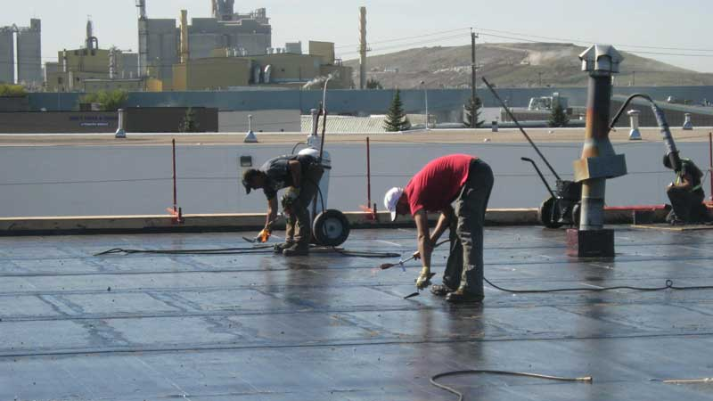 commercial flat roofing services