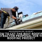 Roofing contractor proposal